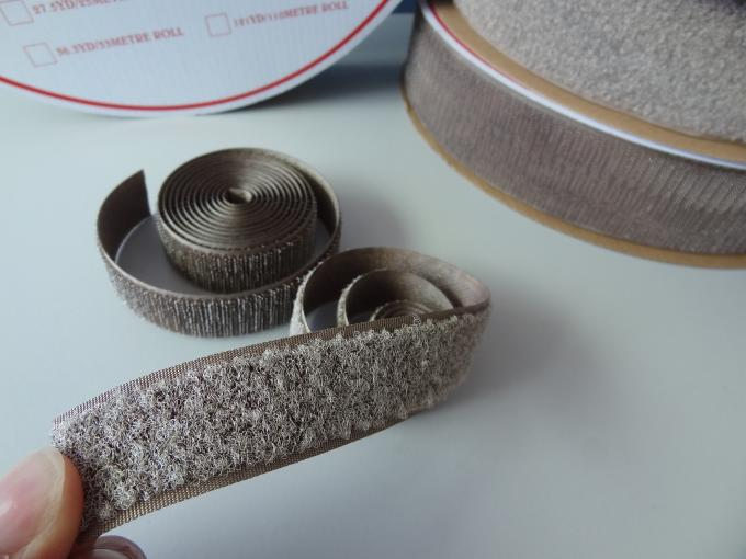 Eco Friendly Adhesive Hook And Loop / Silver Coated Hook And Loop Tape Roll
