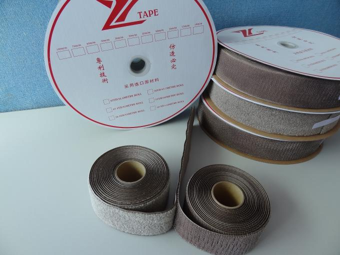 Silver Fiber Conductive Hook And Loop Tape Roll For Marine / Medical Requirements