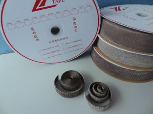 China Eco Friendly Adhesive Hook And Loop / Silver Coated Hook And Loop Tape Roll supplier